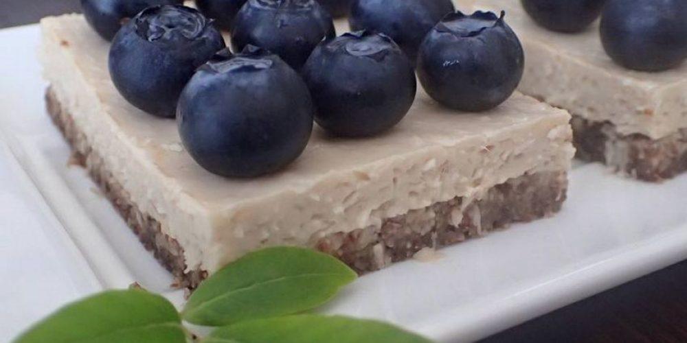 Ciasto z jagodami bez pieczenia