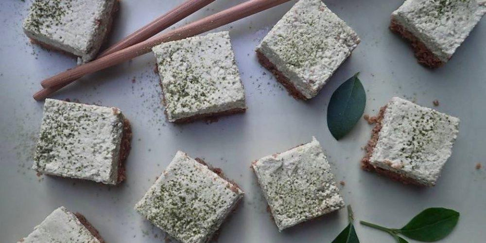 Ciasta bez pieczenia – ciastko matcha